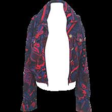 1990s Versace Jeans multicolour jacket