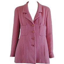 1992 Chanel Pink Boucle Wool Jacket