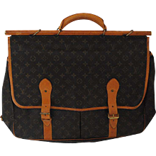 1994 Rare Louis Vuitton Sac Chasse Hunting Monogram Travel Bag