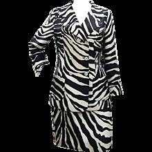 2000s Dolce & Gabbana Zebra Sauvage Tailleur