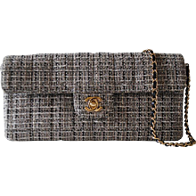 2003 - 2004 Chanel black, beije tweed bag
