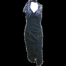 2005 denim and polkadots John Galliano dress