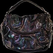 2010s Gucci Oxidised petrol varnish bit bag