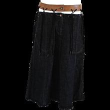 Alexander McQueen Denim long skirt