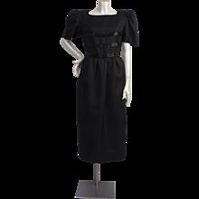 1980s Renato Balestra black dress