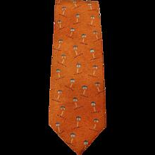 Bulgari Orange Tie