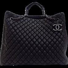 Chanel Iridescent Caviar Black Bag