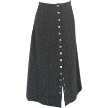 Dolce & Gabbana grey wool skirt