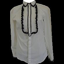 Dsquared2 White / Black Cotton Shirt