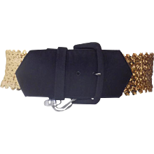 Emanuel Ungaro Black gold sequins belt