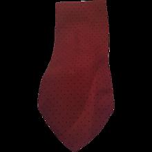 Fendi bordeaux Black pois vintage tie