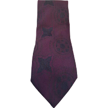 Fendi purple vintage tie
