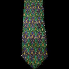 Gianni Versace Green Blu Tie