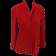 Giorgio Armani red jacket