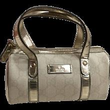 Gucci white small boston bag