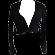 Helmut Lang Black Bolero jacket