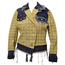 John Galliano Denim Yellow Jacket