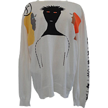 J.C de Castelbajac White Cotton Sweater