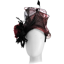 Kreisi Couture Bordeaux Black Hat