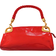 Love Moschino Red Carpet Varnish Red Leather Shoulder Bag
