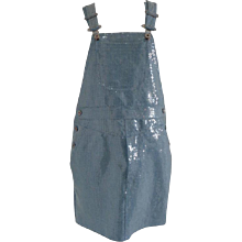 Moschino Couture Denim Sequins Overalls - Salopette