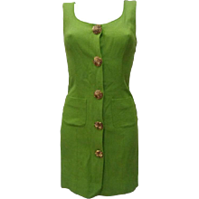 Moschino Green gold tone hardware Dress