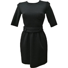 M by Missoni Black Silk Cotton Dress