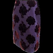 Prada Velvet black purple skirt