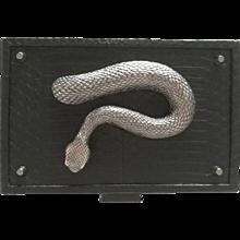 Roberto Cavalli Black Snake Skin Clutch NWOT