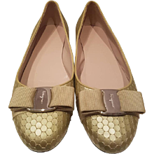 Salvatore Ferragamo Light Green Ballerina