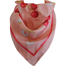 Salvatore Ferragamo Pink multicoloured silk foulard