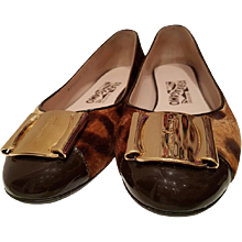 Salvatore Ferragamo unworn pony hair ballerinas