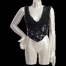 2000s Vivienne Westwood flowered corset