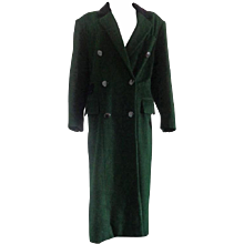 Valentino Green Wool Coat