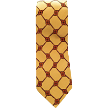 Valentino yellow silk Tie