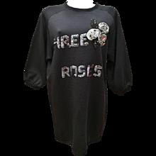 """Vintage Iceberg Maxi Pull - Dress """"Three Roses"""""""