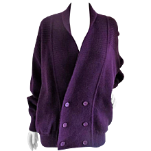 Yves Saint Laurent Purple Cardigan