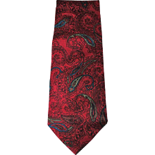 Yves Saint Laurent Red multi tie