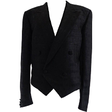Yves Saint Laurent Silk Black Jacket