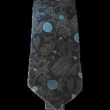 Yves Saint Laurent blu pois flower tie