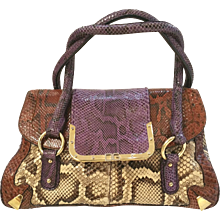 2000 Dolce & Gabbana multicolour Python skin bag