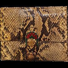 1980s Fendi Python bag