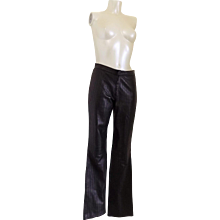 Gucci Iconic must have black leather trousers by Tom Ford