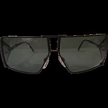 1980s Gianni Versace black sunglasses
