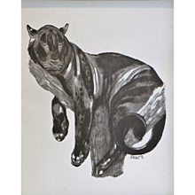 """Paul Jouve - """"Panther Perched"""" , Art Déco, 1930s"""