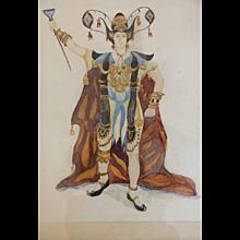 Watercolour on paper by Léon Bakst, circa 1905-1910