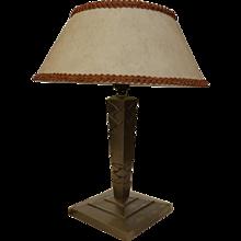 Table Lamp by Edgar Brandt, Art Déco, France, circa 1925