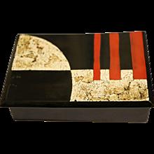 Wooden Art Déco lacquered box