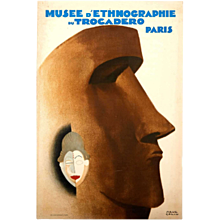 Poster for the Trocadéro Museum of Ethnography, Paris, 1930, by Paul Colin