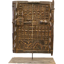 Dogon Carved Granary Door, Africa - Mali, First Half of the 20th Century